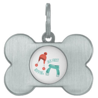Jack Frost Nipping Pet Name Tags