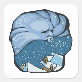 Jack Frost Pegatina Cuadradas Personalizadas