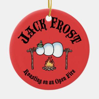 Jack Frost Roasting Ceramic Ornament