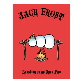 Jack Frost Roasting Postcard