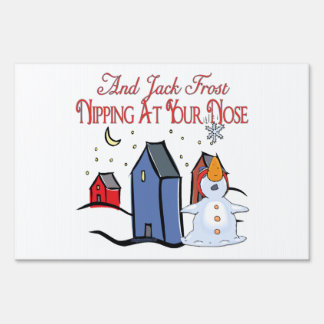 Jack Frost Yard Signs