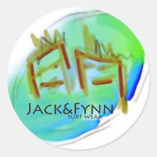 Jack&Fynn surfwear and fresh designs Classic Round Sticker
