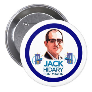Jack Hidary for NYC Mayor 2013 3 Inch Round Button