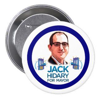 Jack Hidary para el alcalde 2013 de NYC Pin Redondo De 3 Pulgadas