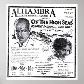 Jack Holt 1922 Vintage Movie Ad Poster