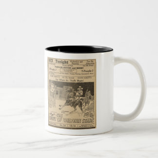 Jack Holt Billie Dove Silent Western Movie Ad Mug