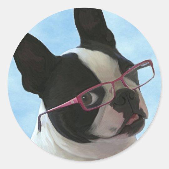 Jack in Glasses Classic Round Sticker