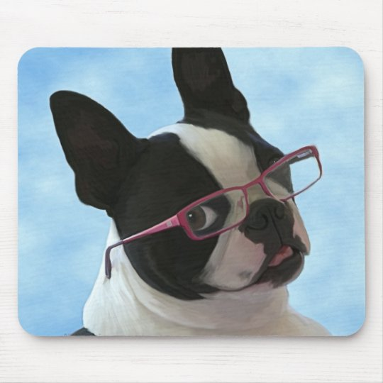 Jack in glasses mouse pad