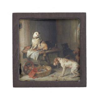 Jack In Office by Edwin Henry Landseer Keepsake Box