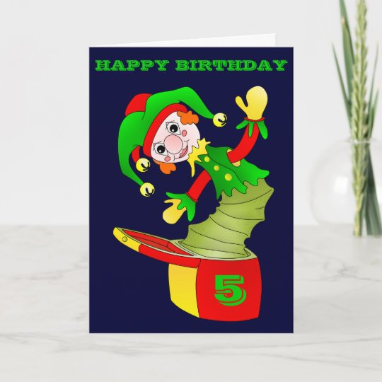 Jack In The Box Birthday Card Customizable