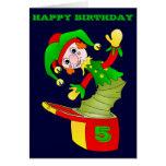 Jack in the box birthday card, customizable card