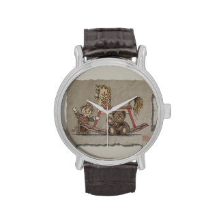 Jack In The Box, caballo y oso Relojes