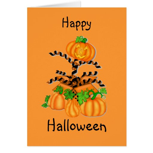 Jack in the Box Halloween Pumkin Greeting Card