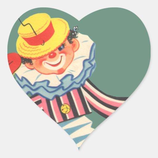 Jack in the Box Heart Sticker