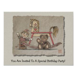 "Jack in the Box, Horse & Bear 4.25"" X 5.5"" Invitation Card"