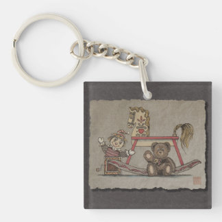 Jack in the Box, Horse & Bear Keychain