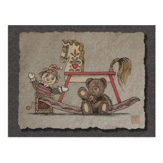 Jack in the Box, Horse & Bear Postcard