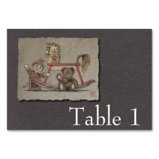 Jack in the Box, Horse & Bear Table Cards