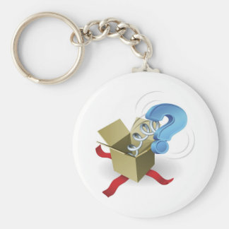 Jack in the box question mark concept keychains