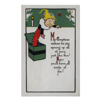 Jack-in-the-Box Sending Christmas Wishes Posters