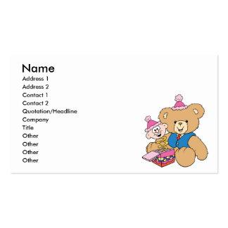 jack in the box teddy bear design business card
