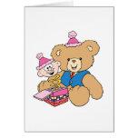 jack in the box teddy bear design greeting card