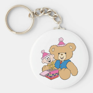jack in the box teddy bear design keychain