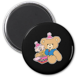 jack in the box teddy bear design 2 inch round magnet