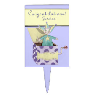 Jack-in-the-Box - Traditional Toys (pastel) Cake Topper