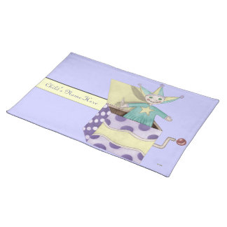 Jack-in-the-Box - Traditional Toys (pastel) Cloth Placemat