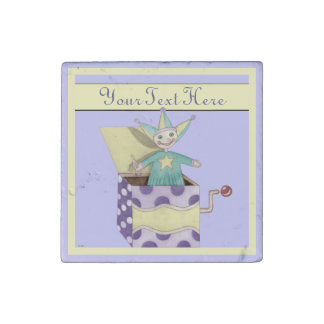 Jack-in-the-Box - Traditional Toys (pastel) Stone Magnet