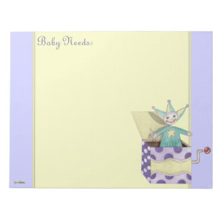 Jack-in-the-Box - Traditional Toys (pastel) Notepad