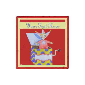 Jack-in-the-Box - Traditional Toys (Primary Colour Stone Magnet