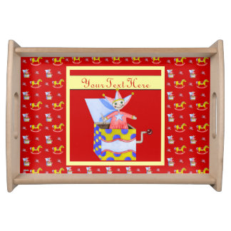Jack-in-the-Box - Traditional Toys Primary Colour Food Tray