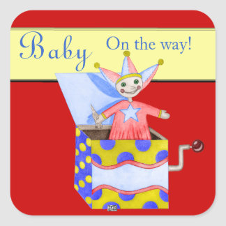 Jack-in-the-Box - Traditional Toys (Primary...) Square Sticker