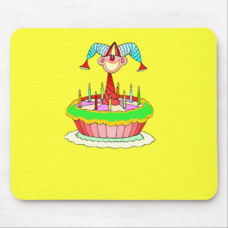 Jack in the Cake Customizable Birthday Design Mouse Pad