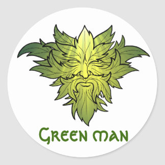 Jack in the green classic round sticker