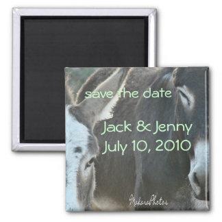 Jack & Jenny-customize 2 Inch Square Magnet