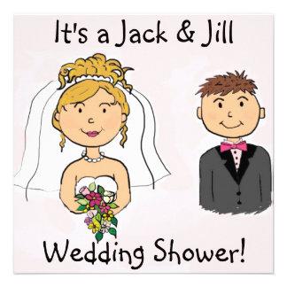 Jack Jill Bride Groom Wedding Shower Invitations