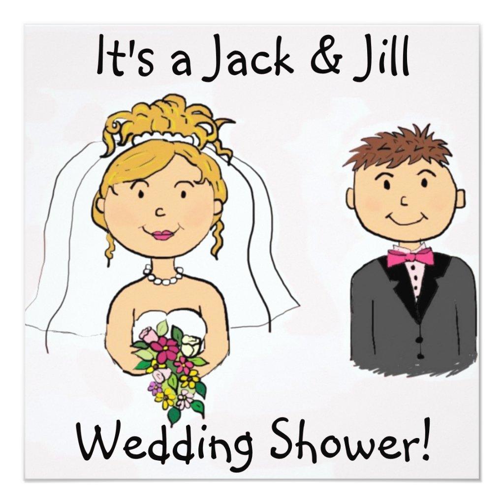 Jack & Jill Bride Groom Wedding Shower Invitations