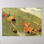 Jack & Jill Fell Down The Hill Nursery Rhyme Print