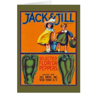 Jack & Jill Florida Peppers Card