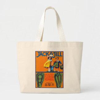 Jack & Jill Florida Peppers Large Tote Bag