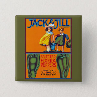 Jack & Jill Florida Peppers Pinback Button