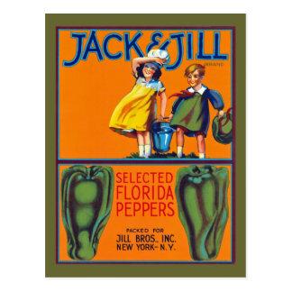 Jack Jill Florida Peppers Postcards