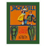 Jack & Jill Florida Peppers Poster