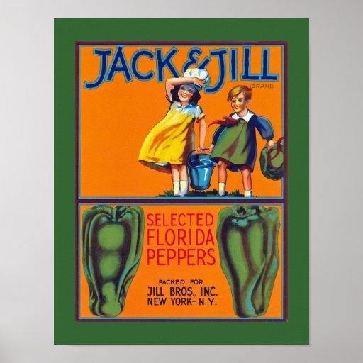 Jack jill florida peppers poster zazzle for Jack e jill house