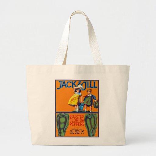 Jack & Jill Florida Peppers Tote Bags