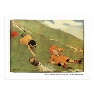 Jack Jill Nursery Rhyme - Postcard