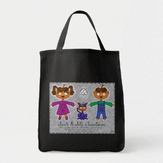 Jack Jill o Lantern Grocery Bag